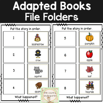 Adapted Books for Special Education: Fall