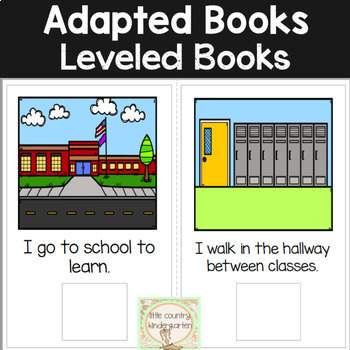 Adapted Books for Special Education: School Places
