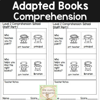 Leveled Adapted Books: School Staff Part 1