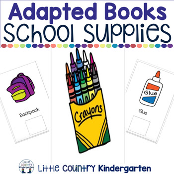 Leveled Adapted Books for Special Education: School Supplies