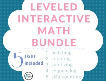 Leveled Adapted Counting Skills Adapted Math Bundle