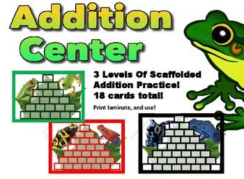 Leveled Addition Center - grades 2-5
