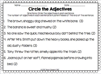 Leveled Adjective Flipbook
