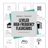 Leveled Articulation Therapy Flashcards - Using High-Frequency Words