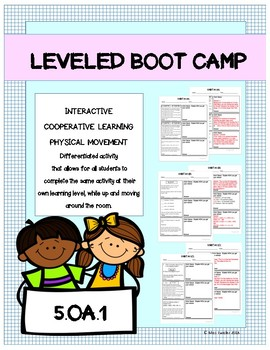 Leveled - BOOT CAMP- Math Activity- 5.OA.1