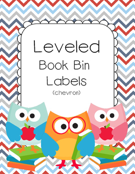 Chevron Themed Leveled Book Bin Labels for AR (Accelerated Reader) books