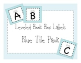 Leveled Book Box Library Labels Blue