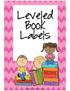 $1 Deals! Leveled Book Labels (Chevron)