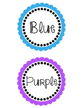 Leveled Book Labels- By Color  (2 per label)