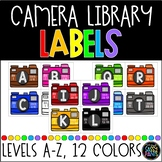 Leveled Book Bin Labels | Camera Labels | Leveled Library Labels | Library Label