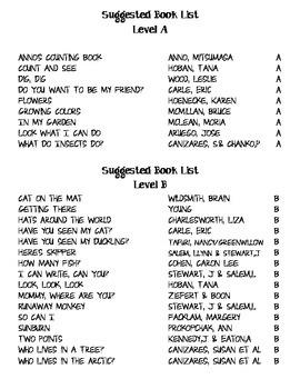 Leveled Book List (A-M)
