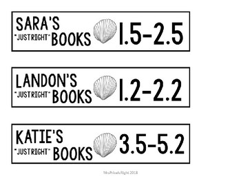 Leveled Book Marks - Editable