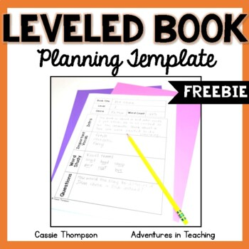 Leveled Book Planning Template FREEBIE