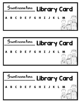 Leveled Library Card