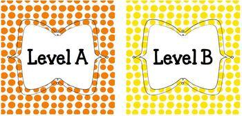 Leveled Books Bin Labels