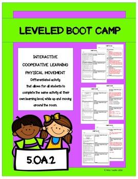 Leveled- BOOT CAMP- Math Activity- 5.OA.2