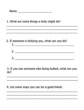 Leveled Bullying Packet