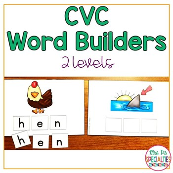 CVC Word Building & Spelling (Special Education & Autism r