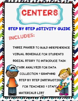 Leveled Centers Program to Increase Language, Independence, & Play Skills