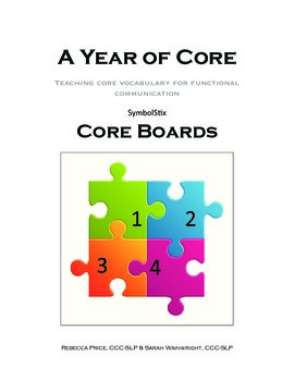 Leveled Core Vocabulary AAC Boards SYMBOLSTIX- assistive t