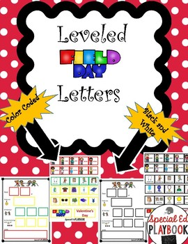 #TPTFireworks Leveled Cut and Paste Field Day Letters