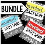 Leveled Daily Work BUNDLE