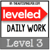 Leveled Daily Work {Level 3}