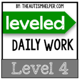 Leveled Daily Work {Level 4}