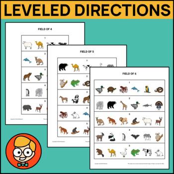 Leveled Directions Task Cards Bundle!