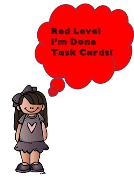 Leveled Early Finisher Task Cards Part 1