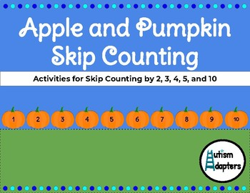Leveled Fall Skip Counting Adapted Math Activities