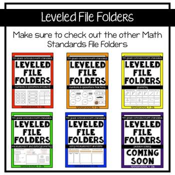 Leveled File Folder: Numbers and Operations (4th Extended Standard Aligned)