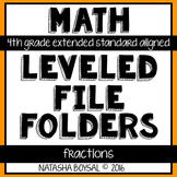Leveled File Folder: Fractions (4th Grade Extended Standard Aligned)