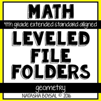 Leveled File Folder: Geometry (4th Grade Extended Standard Aligned)
