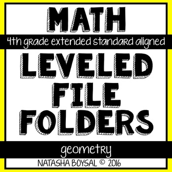 Leveled File Folder: Geometry (4th Grade Extended Standard