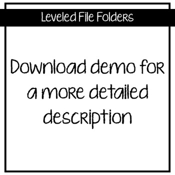 Leveled File Folder: Measurement & Data (4th Grade Extended Standard Aligned)