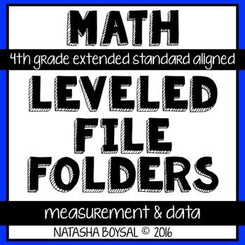 Leveled File Folder: Measurement & Data (4th Grade Extende