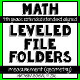 Leveled File Folder: Measurement & Data (Geometry) (Extended Standard Aligned)