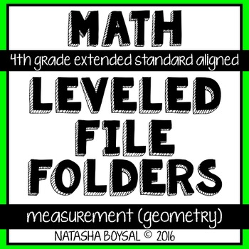 Leveled File Folder: Measurement & Data (Geometry) (Extend