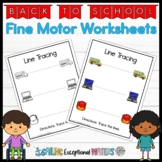 Leveled Fine Motor Thematic Worksheets: Back to School