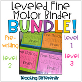 Leveled Fine Motor Worksheets Bundle