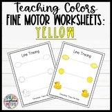 Leveled Fine Motor Worksheets: All About the Color Yellow