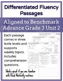 Leveled Fluency Passages for Benchmark Advance Grade 3 Unit 2 - Intervention