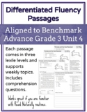 Leveled Fluency Passages for Benchmark Advance Grade 3 Unit 4 - Intervention