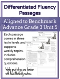 Leveled Fluency Passages for Benchmark Advance Grade 3 Unit 5 - Intervention