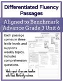 Leveled Fluency Passages for Benchmark Advance Grade 3 Unit 6 - Intervention