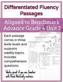 Leveled Fluency Passages for Benchmark Advance Grade 4 Unit 2 - Intervention