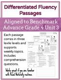 Leveled Fluency Passages for Benchmark Advance Grade 4 Unit 3 - Intervention