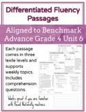 Leveled Fluency Passages for Benchmark Advance Grade 4 Unit 6 - Intervention