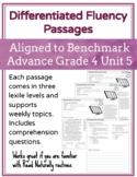 Leveled Fluency Passages for Benchmark Advance Grade 4 Unit 5 - Intervention